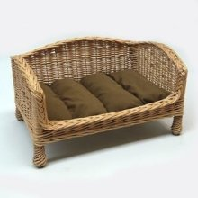 Willow Pet Bed Settee Extra Small Dark Cushion