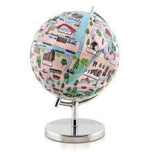 "Globee Amsterdam 9"" Night Lights Illuminated Globe Science Kit"