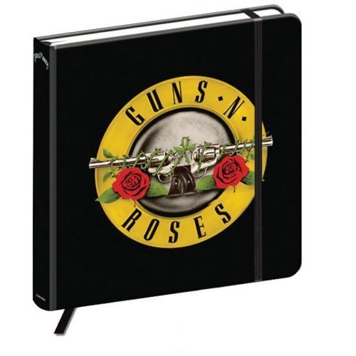 Official Guns N' Roses - Hardback Notebook / Journal (192 Pages) - Logo Bullet -  guns roses logo notebook bullet 192 page hard back black hardback