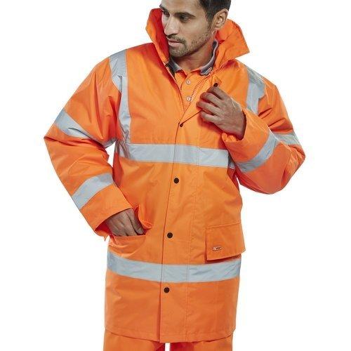 Click CTJENGORXXL Hi Vis Orange Constructor Traffic Jacket XXL