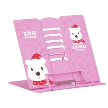 Book Stand Book Holder Adjustable Foldable Book Stand Cute [F]