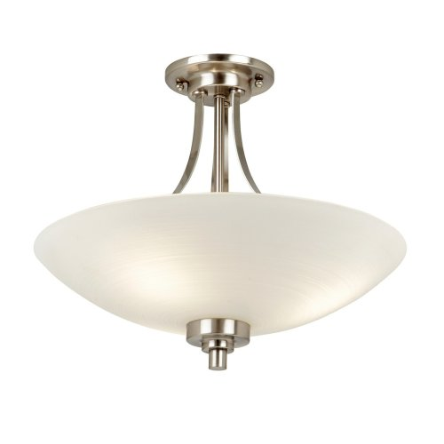 Modern Semi-Flush Ceiling Light With Frosted Glass Shade