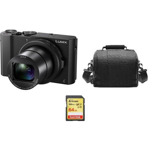 PANASONIC DMC-LX10 + 64GB SD card + camera Bag