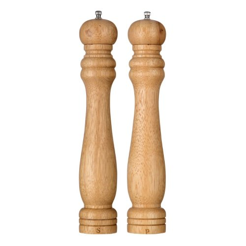 Salt and Pepper Mill Set, 12 inch - Natural, Set of 2