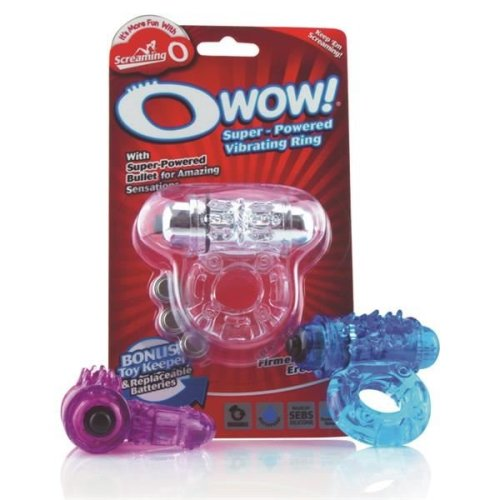 Screaming O Wow Vibrating Cock Ring For Endurance & Erection Enhancing in Purple