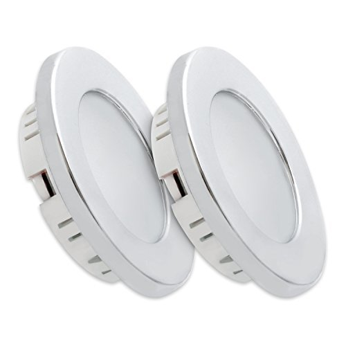 Dream Lighting 12V LED Downlights - 3.5W Commercial Recessed Ceiling Lights- for Campervan, Motorhome, Caravan, Boat, Marine and Vehicle, Cool White Pack of 2