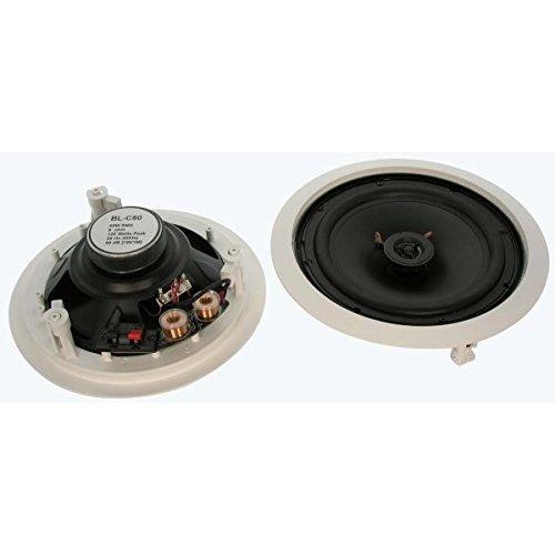 InstallerParts 8 2 Way Ceiling Speaker BLC80 Pair 2pc