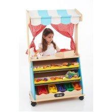Childrens 2 in 1 Wooden Play Shop & Theatre (95987) - Nursery/School