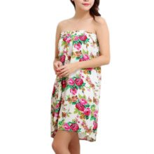High-grade Thin Salon Khan Steam Bathrobe Bath Skirt Strapless Bathing Dress-A13