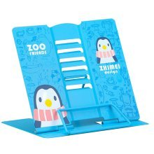 Book Stand Book Holder Adjustable Foldable Book Stand Cute [E]