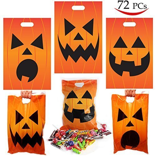 JOYIN 72 Pieces Halloween Jack O Lantern Trick Or Treat bags for  Trick-or-Treating c25d4fc85fee