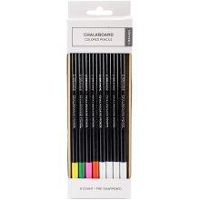 Chalkboard Colored Pencil-Assorted Colors, 6/Pkg
