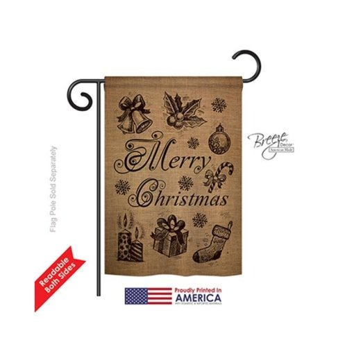 Breeze Decor 64107 Christmas Favorite Things 2-Sided Impression Garden Flag - 13 x 18.5 in.