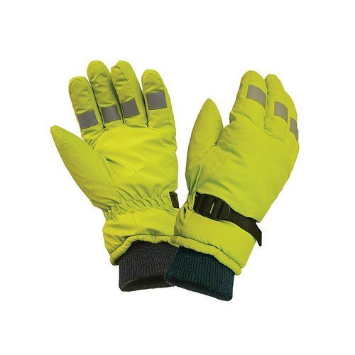 Scan ZX001-T Hi-Visibility Gloves, Yellow Large