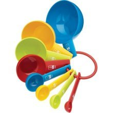 Miniamo Brights 8 Piece Measuring Spoons, Cups & Cookie Cutters Set