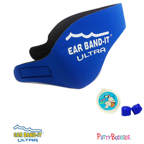 Ear Band-It ULTRA True Blue Head Band for Swimming