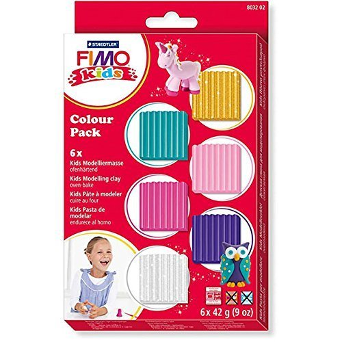 Fimo Kids Pastel Set, Assorted, Pack of 6