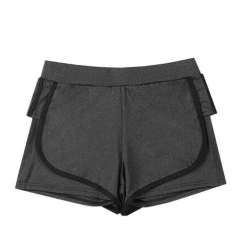 Women's Hot Elastic Waist Gym  Pants Active Wear Lounge Shorts,#A 2