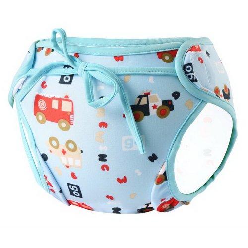 Baby Boy Baby Girl Swim Shorts Reusable Adjustable Infant Swimwear Colorful Cars