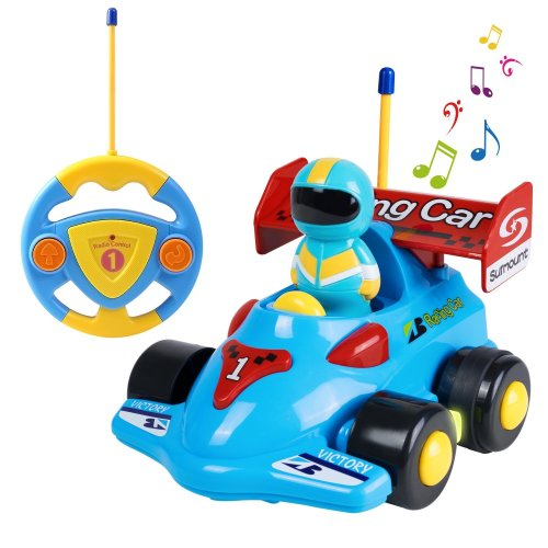 SGILE Cartoon Remote Control Car Racer Toys For Toddlers Birthday Gift Present 3 Year Olds Boys Girls Kids Blue On OnBuy