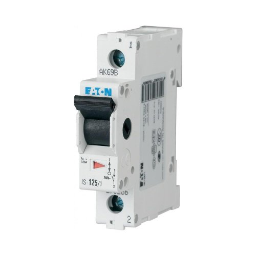 1-Pole 1-Module Main Switch For Distribution Box 32A 230VDC Eaton IS-32/1