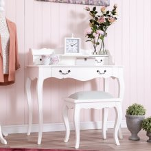 Tuscany Antique White 3 Drawer Dressing Table