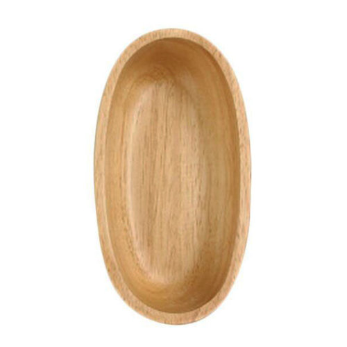Wooden Dinnerware Fruit/ Meat/ Bread Plate Hull Form Bowl  15.8 X 8.3 X 4 CM