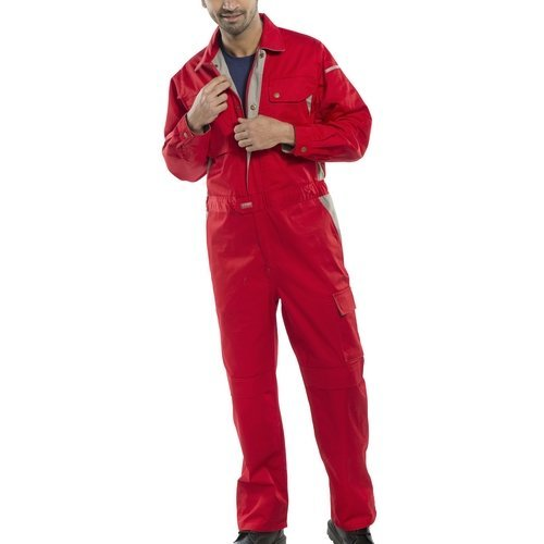 Click CPCRE36 Premium Coverall Boiler Suit With Internal Knee Pad Pockets Red 36""