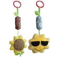 [Sun and Sunflower] Baby Crib/Stroller Toys, Baby Room Decor, 2PCS