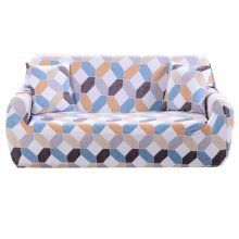 Sofa Covers Fabric Chair Slipcover Seater Protector 2 Seat 145-185cm,g