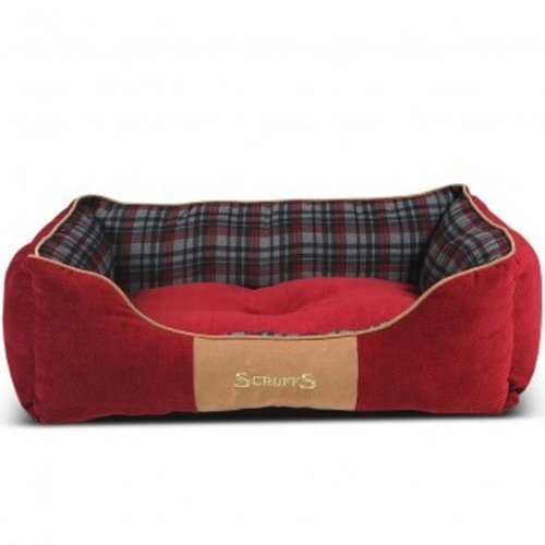 Dog Bed Red Box Highland Design Super Soft Bed One Piece Construction Washable