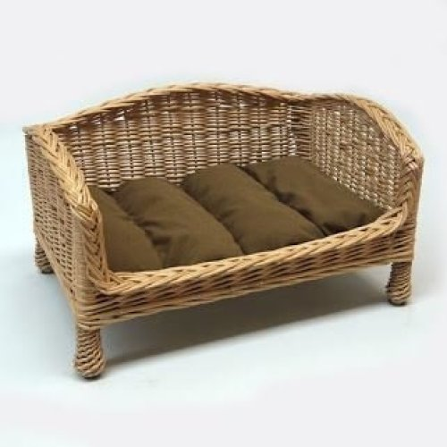 Willow Pet Bed Settee Small Dark Cushion