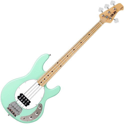 Sterling by Musiman Sub Ray4 Bass Guitar Mint Green Maple Neck