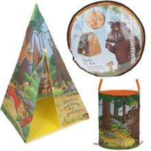 Gruffalo Pop Up Play Tent 91 X 81 X 81cm In Carrybag - Teepee Toy Storage Tube -  pop up gruffalo teepee play tent toy storage tube bin indoor den