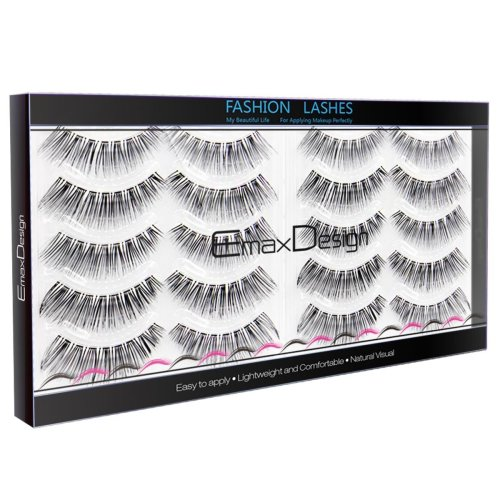 EmaxDesign 10 Pairs Fake Eyelashes