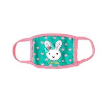 Children's Mask For Windproof, Dustproof, Breathable Masks (Green Rabbit)