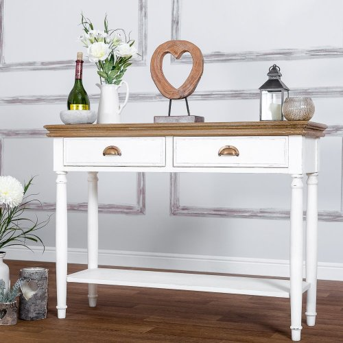 Strasbourg Shabby Chic 2 Drawer Console Table