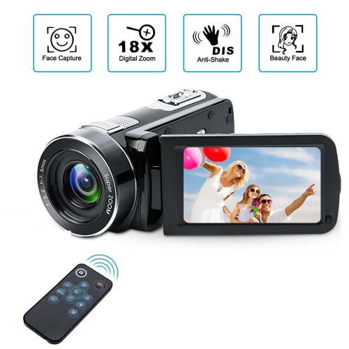 Digital Camcorder with IR Night Vision, Weton 1080P Full HD Digital Video Camera 24.0Mega Pixels 18X Digital Zoom Video Camera (Two Batteries...