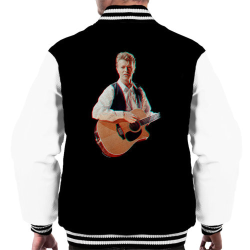 David Bowie At Birmingham NEC 1990 3D Effect Men's Varsity Jacket