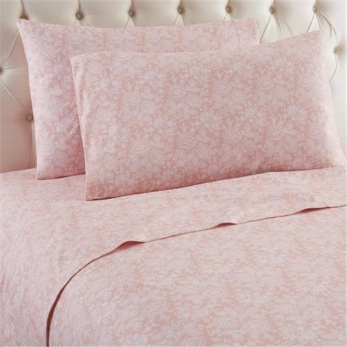 Shavel MFNSSTWERO Micro Flannel Enchantment Rose Twin Sheet Set