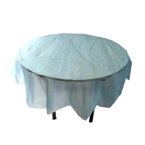 Set of 2 Round Table Disposable Tablecloths Hotel/Party Meal Waterproof,Blue