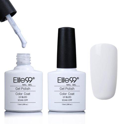Elite99 Varnish Gel Nail Polish Soak Off UV LED Nail Art Manicure 7 3ml  French White (40501)
