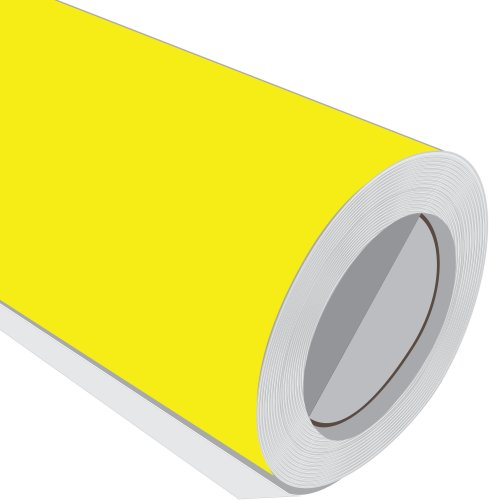 Yellow Gloss Adhesive Vinyl Roll 610mm 1M 2M 3M 5M 10M