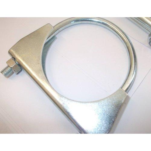 universal exhaust u clamp bolt heavy duty TV pipe hose 38mm x 5, Pk x 5