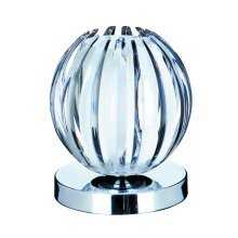 Metal Touch Chrome Table Lamp w/ Frosted Glass & Clear Acrylic
