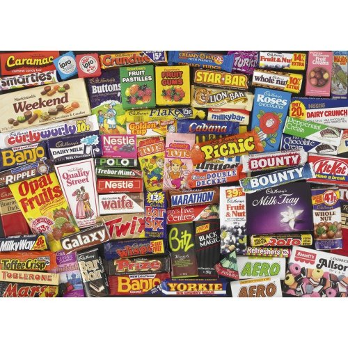 Gibsons 1980s Sweet Memories Jigsaw Puzzle (1000 Pieces)