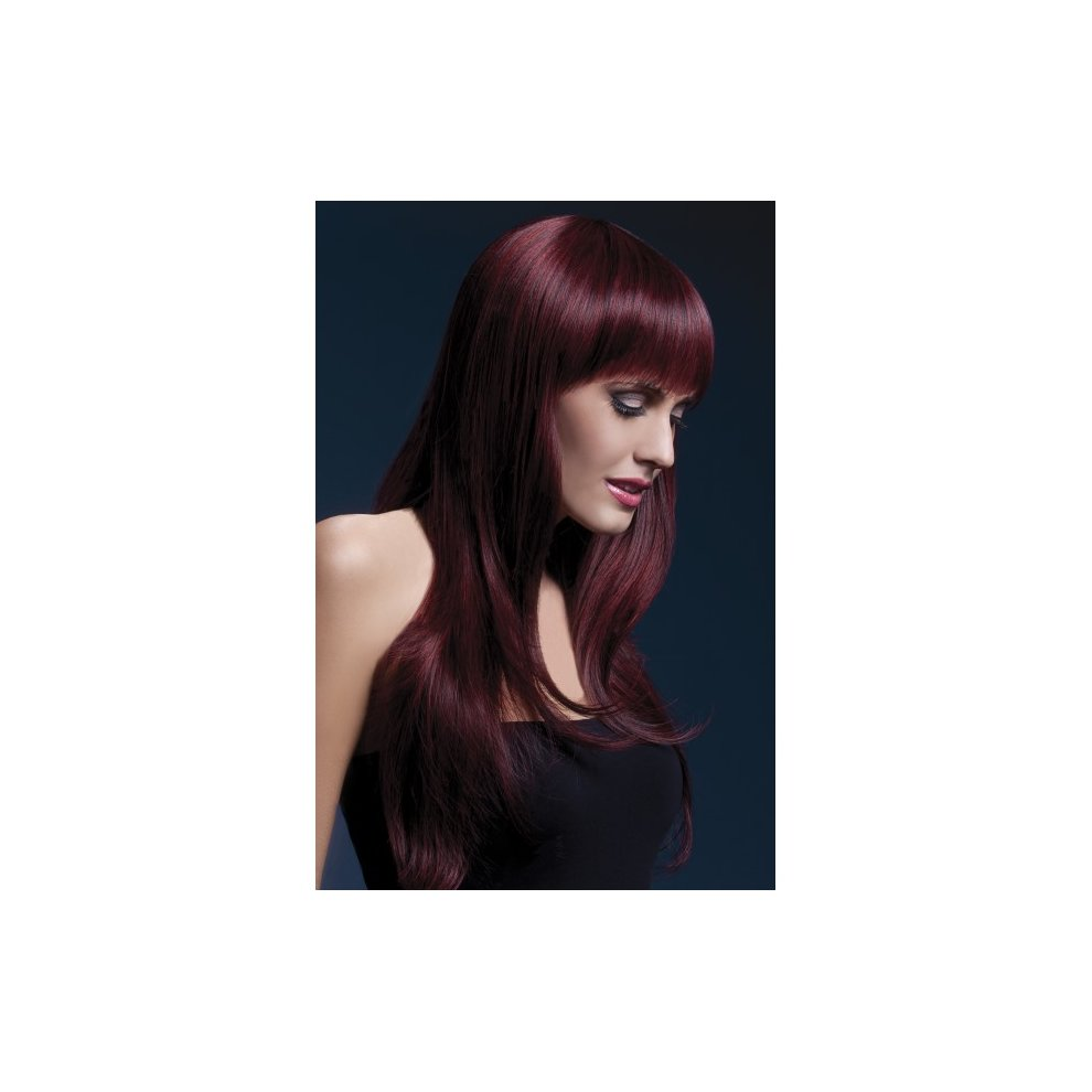 Adults Deluxe Fever Sophia Long Layered Wig Professional Fancy Dress Accessory