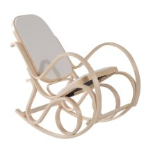 Homcom Antique Rocker Wooden Rocking Chair Lounger Relaxing Padded Seat Classic