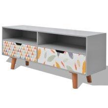 243701 vidaXL TV Cabinet MDF 120x30x50 cm Grey