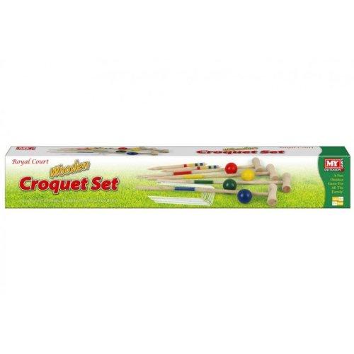 M.Y Wooden Large Croquet Set